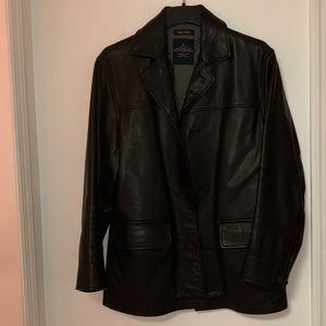 Nautica men's 100% leather jacket